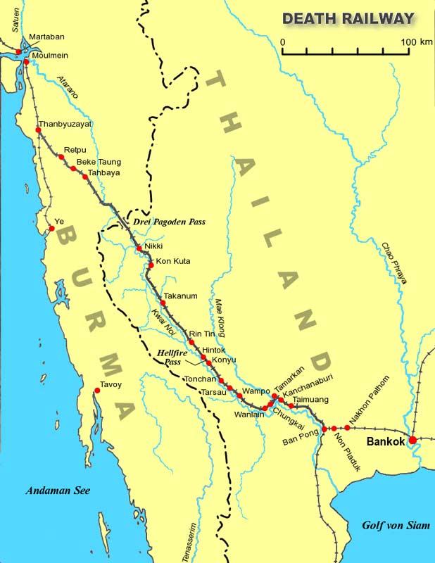 Железная дорога смерти в Таиланде