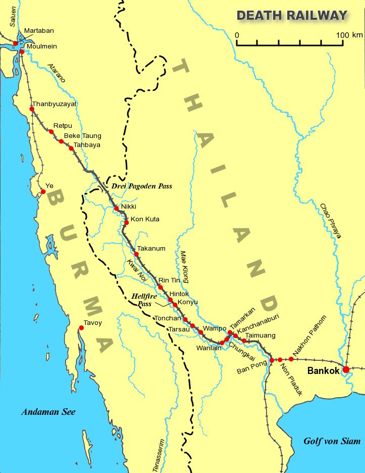 Железная дорога и мост через реку Квай