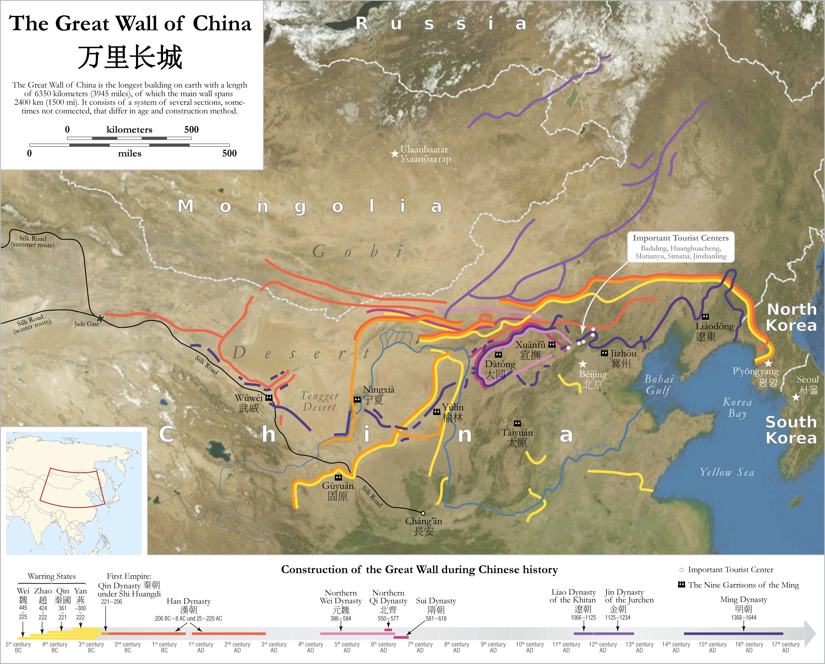 Great-Wall-China-Map