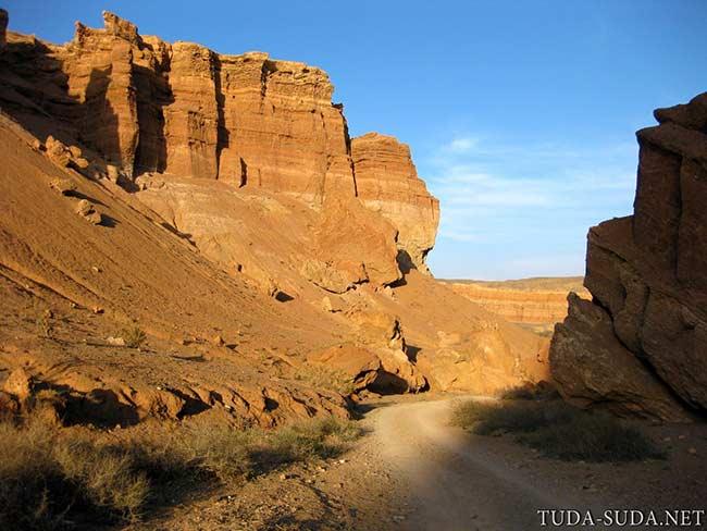 Закат Чарынский каньон фото