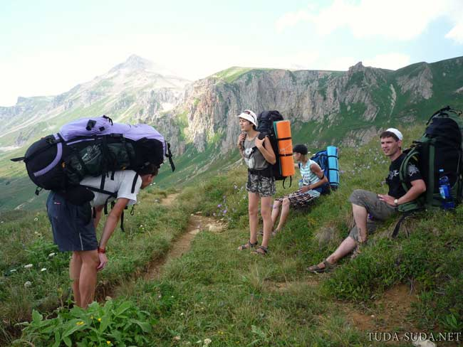 Поход по горам Кавказ