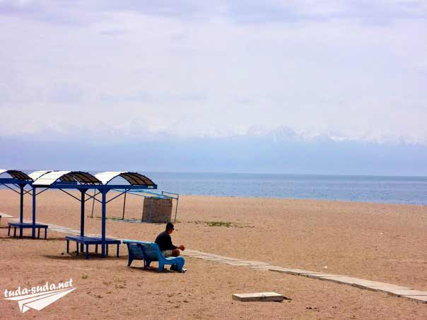 Голубой Иссык-Куль пляж