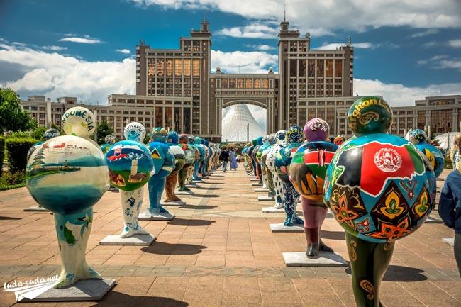 Водно-Зеленый Бульвар Астана