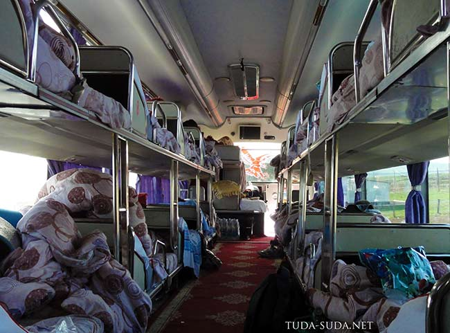 Салон китайского автобуса