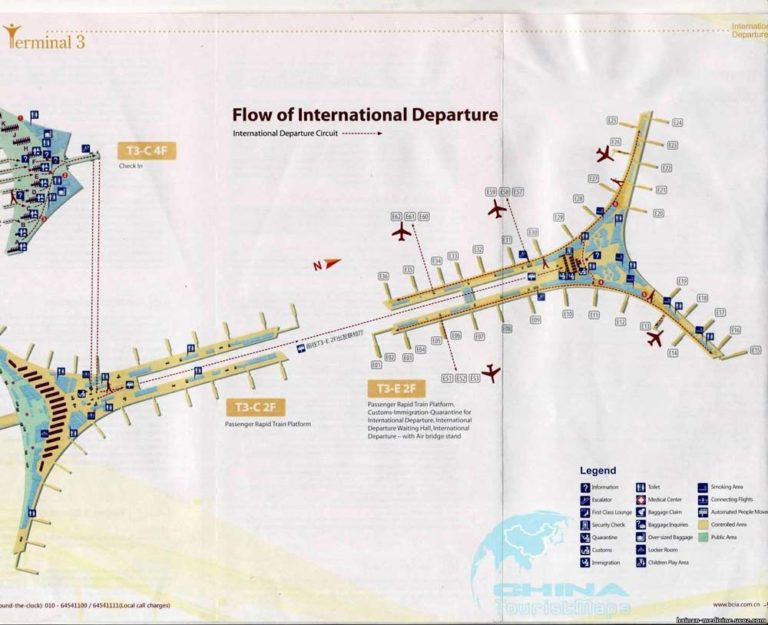 Аэропорт пекин схема на русском языке
