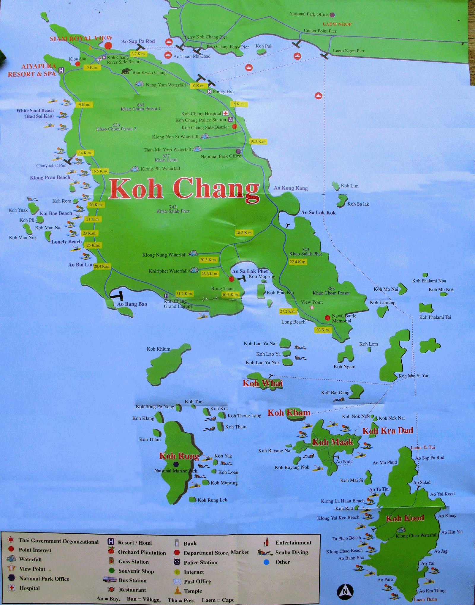 карта ко чанга с островами