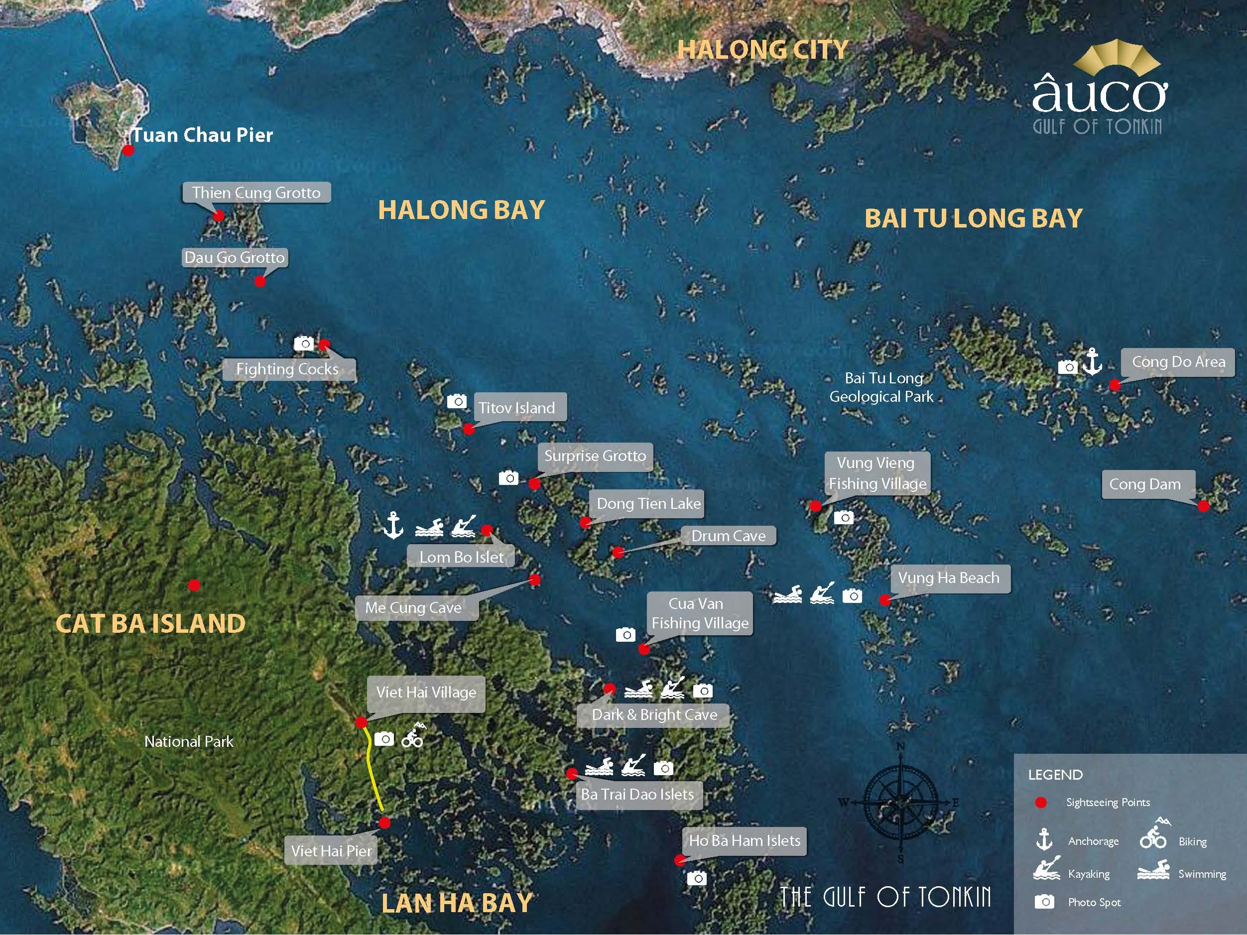 бухта халонг карта