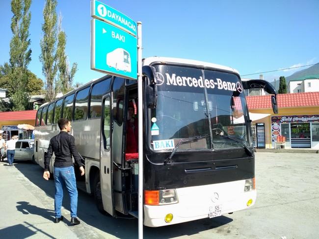 Автобус Шеки-Баку