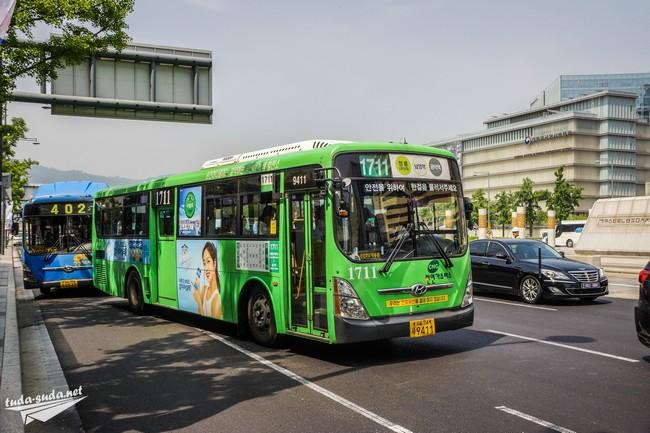 автобусы Сеул