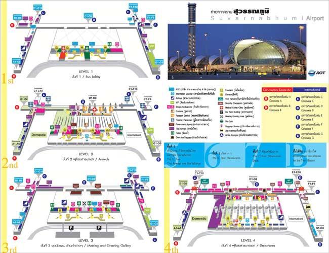 Аэропорт Бангкок схема