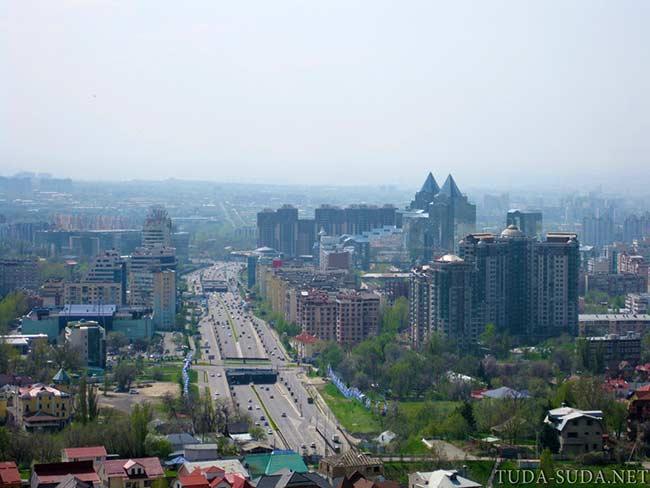 Панорама Алматы