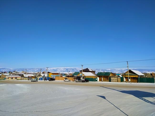 Поселок Хужир зимой