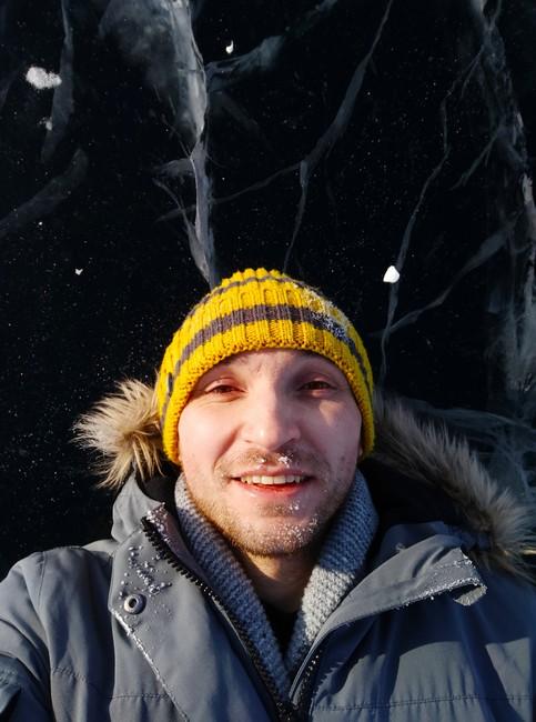 лед зима Байкал