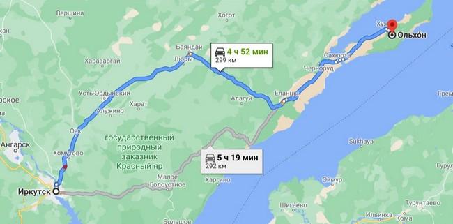 маршрут на Ольхон из Иркутска