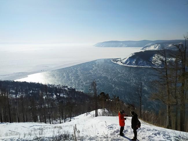 Исток Ангары зимой