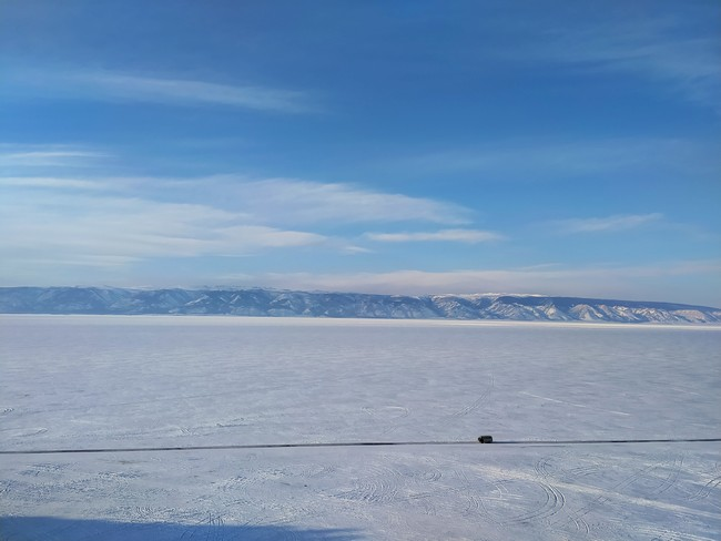Дорога Байкал зимой