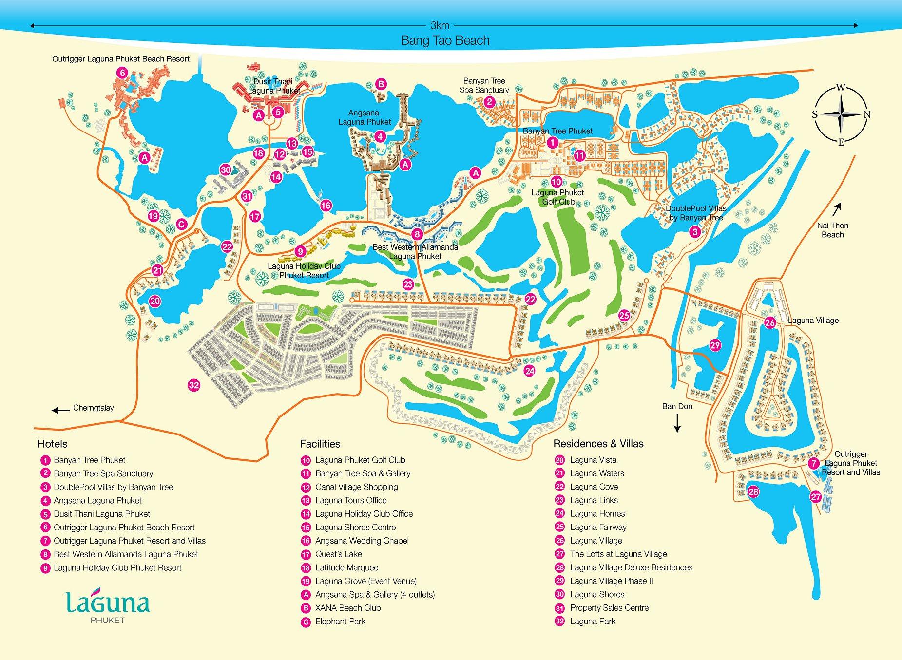 Лагуна Банг Тао карта