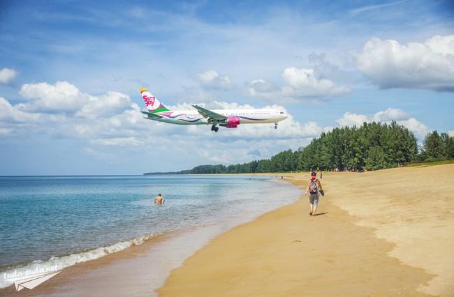 Пляж с самолетами на Пхукете