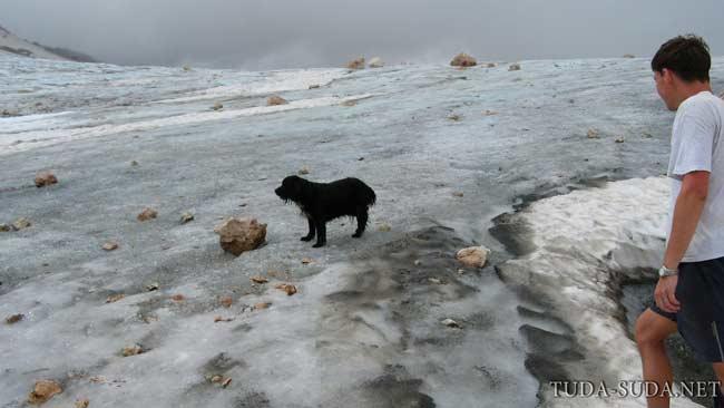 Ледник Кавказ горы
