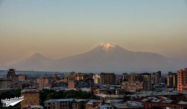 Вид на Арарат из Еревана