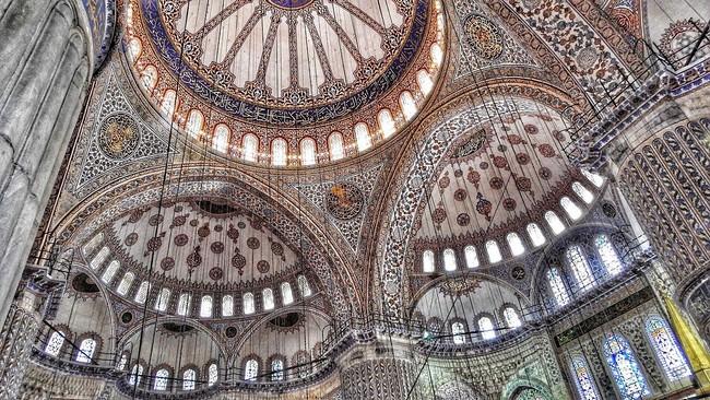 внутри Голубой мечети Стамбул