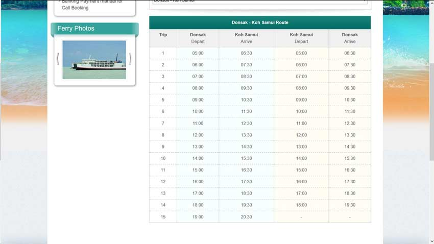 Raja Ferry расписание