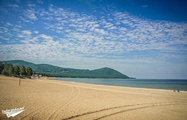 Пляж в Горячинске