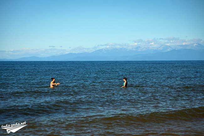 купание в Байкале