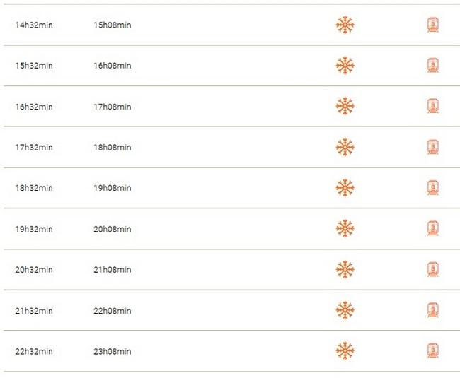 Расписание поездов из аэропорта в центр Касабланки