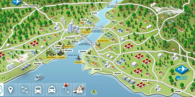 аэропорты Стамбула карта