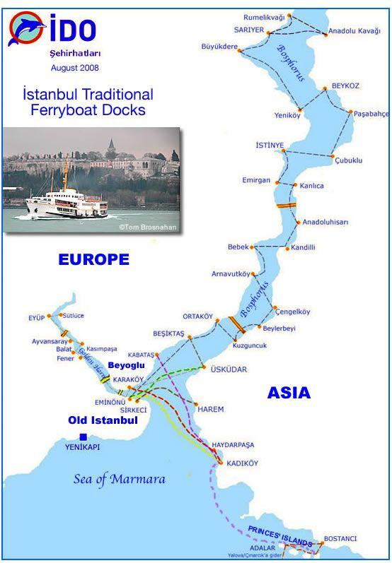 паромы Стамбул маршруты