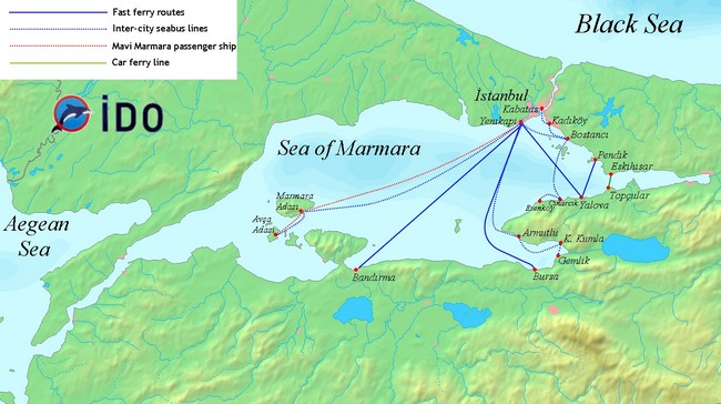 Мраморное море паромы