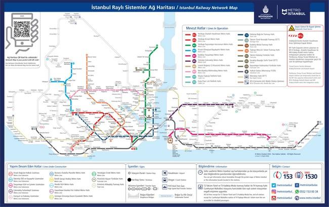 схема общественного транспорта Стамбула