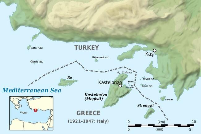 Каш Турция на карте