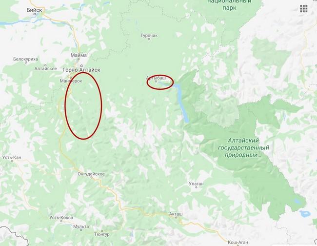 Популярные районы на Алтае