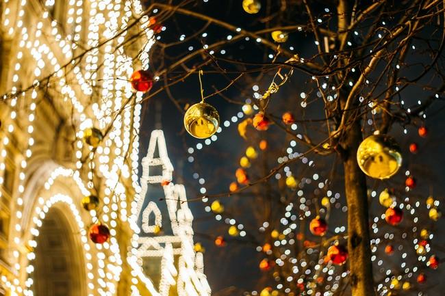 Новогодняя Москва фото