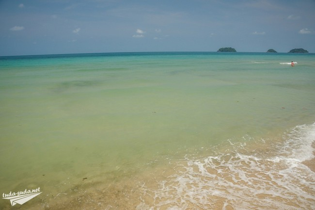 лонли бич вода в море