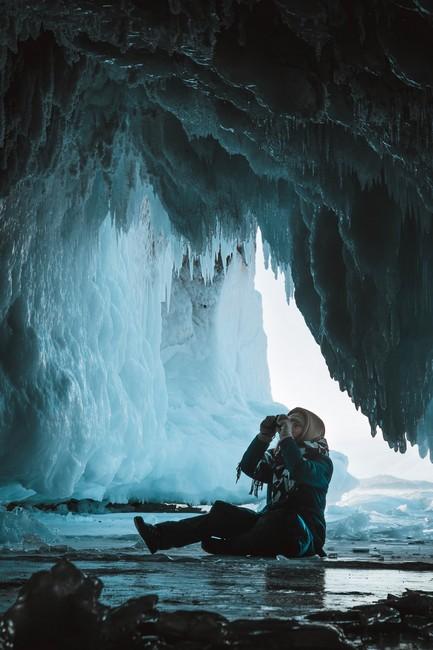ледяные пещеры Байкал