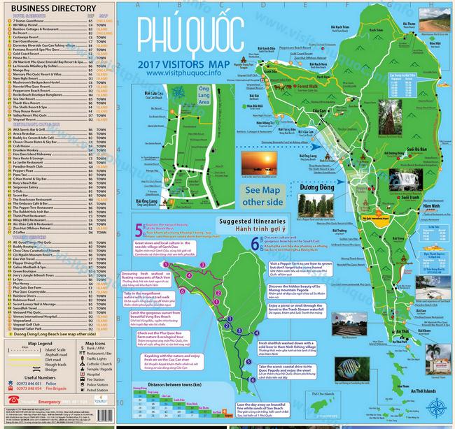 карта острова Фукуок