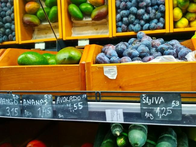 цены в Черногории на фрукты