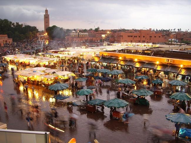 Марракеш марокко площадь