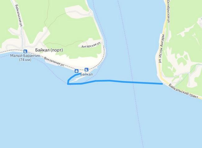 паром Рогатка - Порт-Байкал