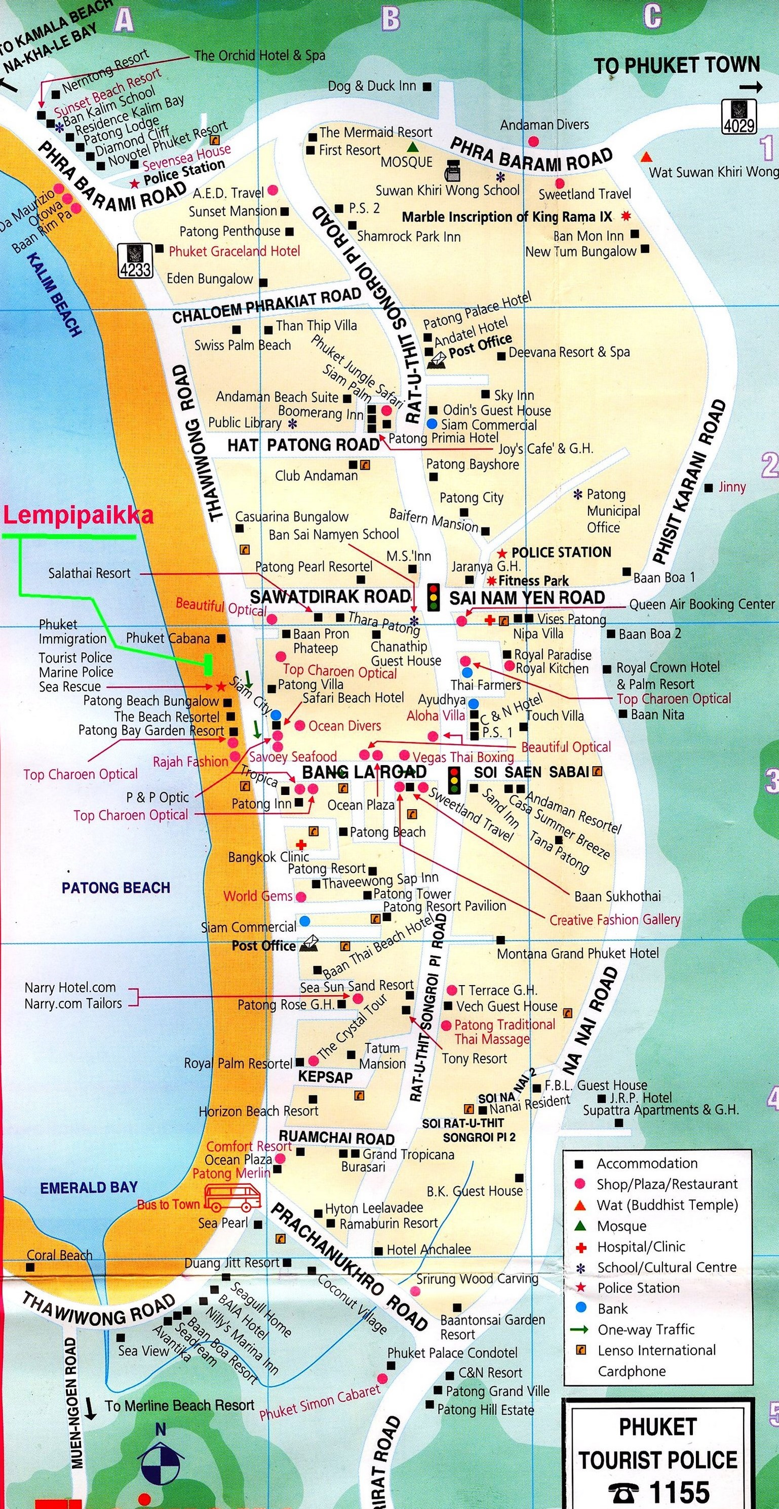 Карта Патонга