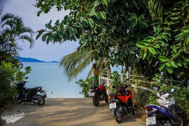 парковка пляж Маенам