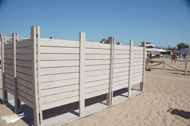 раздевалки на пляже