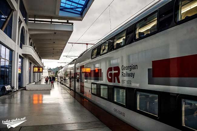 Современный вариант Поезда в Грузии