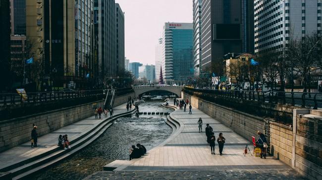 Ручей Чхонгечхон Сеул