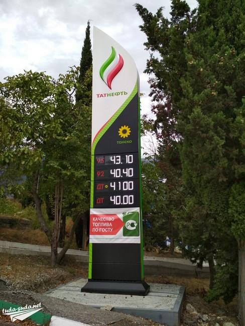цена на бензин в Крыму