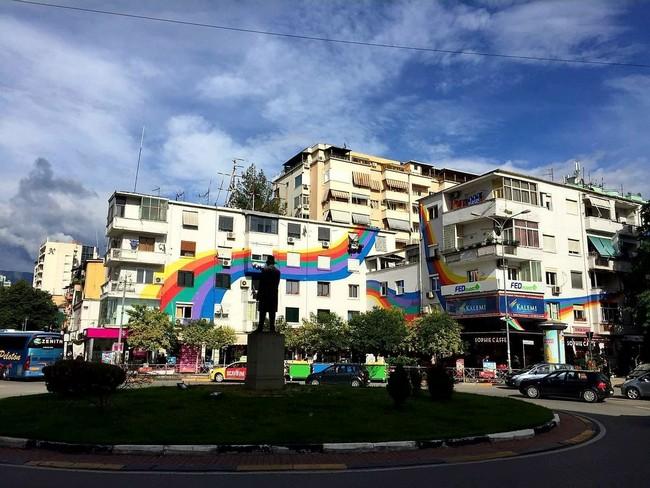 Район Blloku в Тиране