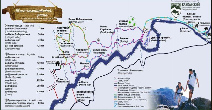 карта маршрутов тисо-самшитовая роща